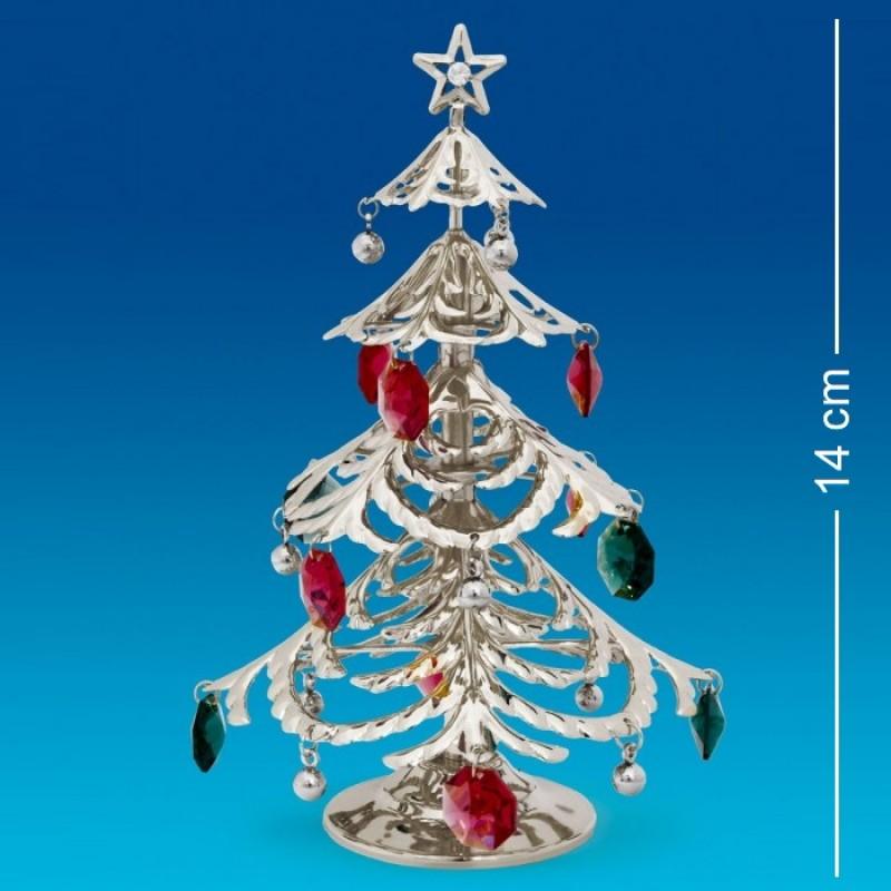 Swarovski 1326/2 Фигурка елка новогодняя посереб.. 14см
