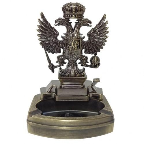 Пепельница  A806 с зажигалкой герб России11,5*8,5*17см  (HL-38-32)
