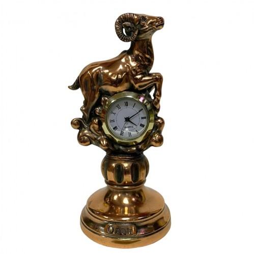 Статуэтка 1126 Часы-Знак зодиака Овен 15 см