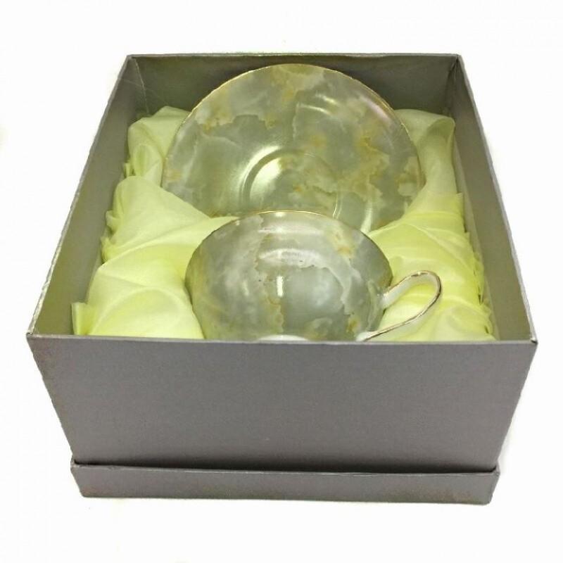 1606  (24) Чашка с блюдцем, 160 ml. в подарочной упаковке