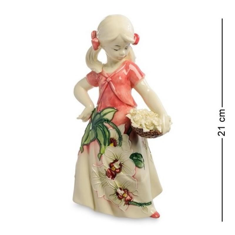 JP- 12/13 Статуэтка ''Юная Леди с цветами'' (Pavone) 21см