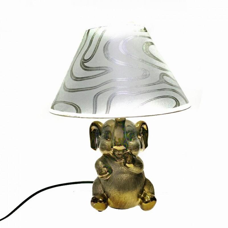 KH- 673  (24) Декоративный светильник-ночник керамика Слон 2вида 32см