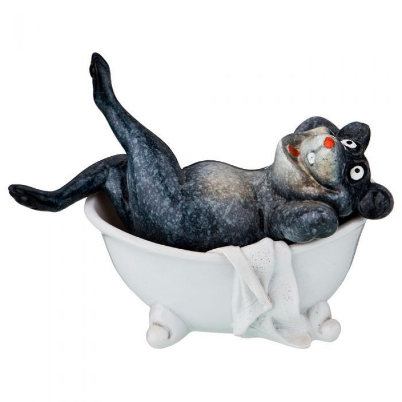 146-1134  Мышка в ванне 13,5*7*10 см.
