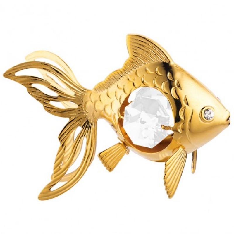 Swarovski 4743/G Фигурка Золотая рыбка 6*3*4,5см.