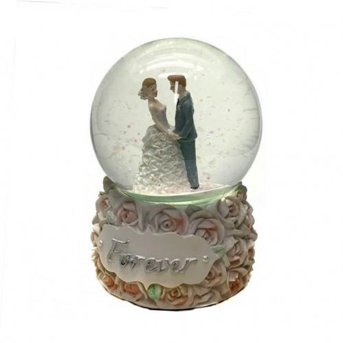 NX26343 (1-12) Свадебная пара в шаре с музыкой 15 см