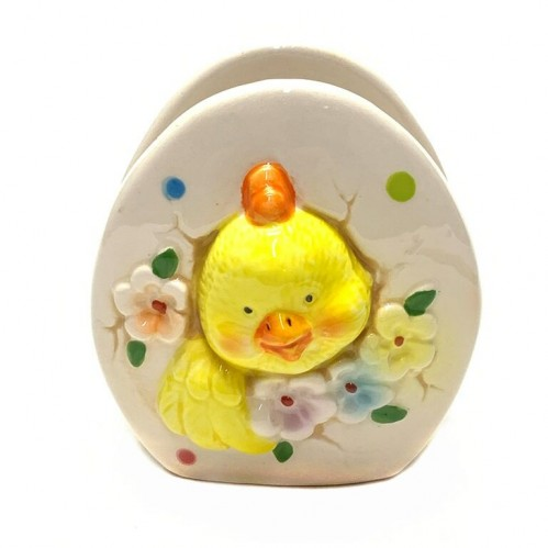 036002  (6-96) Подставка  для салфеток Цыпленок в яйце 7*7*8см