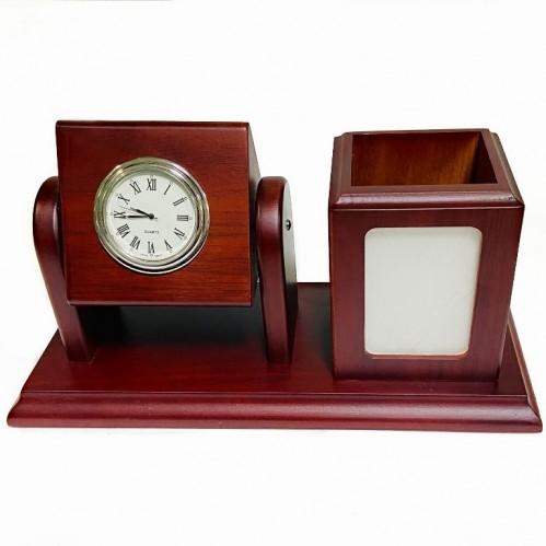 K30046  Бизнес набор с часами 24*13см