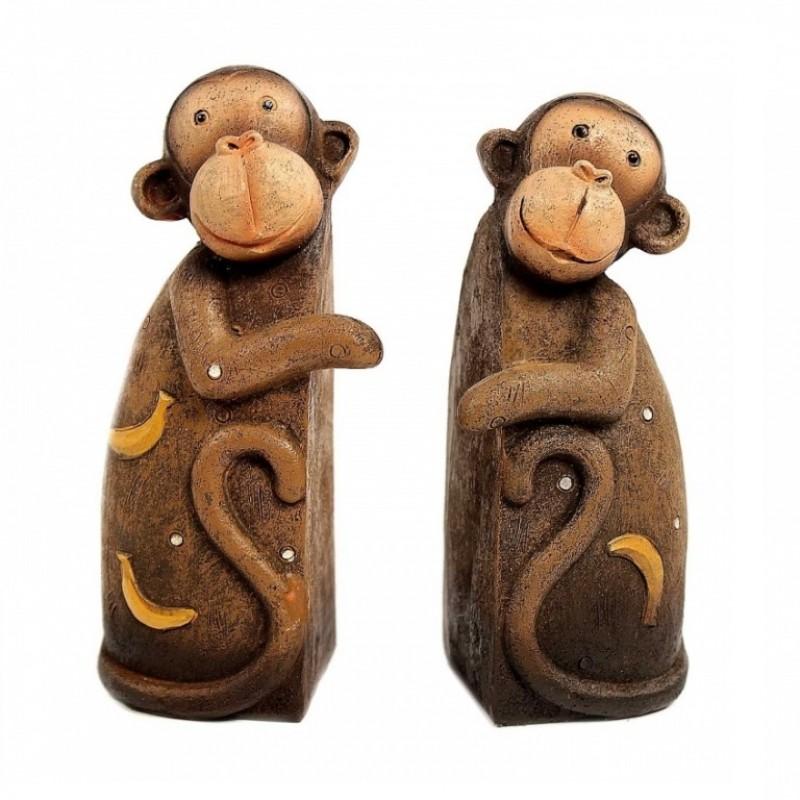 KEN78042  (1-48) Набор из 2-х обезьянок 8.5X5X12см