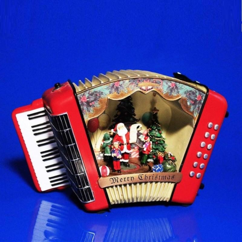AK8329  (1-6) Аккордеон новогодний муз,свет,движ. 25*12*17см