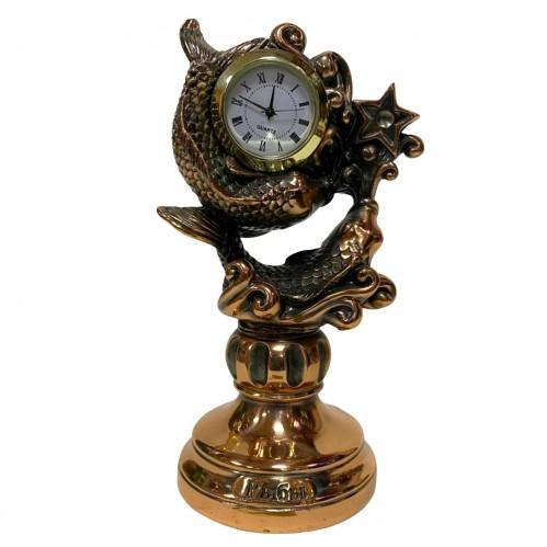 Статуэтка 1130 Часы-Знак зодиака Рыбы 15 см