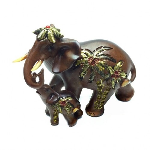 EPW31956  (1-12) Слон со слоненком 18*9*14см