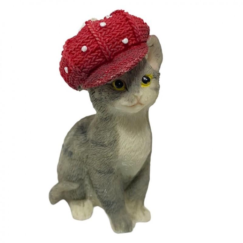 KEN78720  (6-144) Кошка в кепке 5.5*4*9см