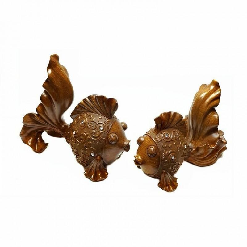 MML15901  (1-6) Набор из 2-х золотых рыбок 12*23*21см