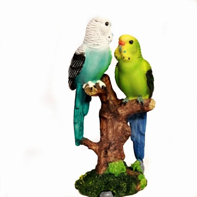 HOL21346  (4-48) Фигурка Два попугая 8*7*15см