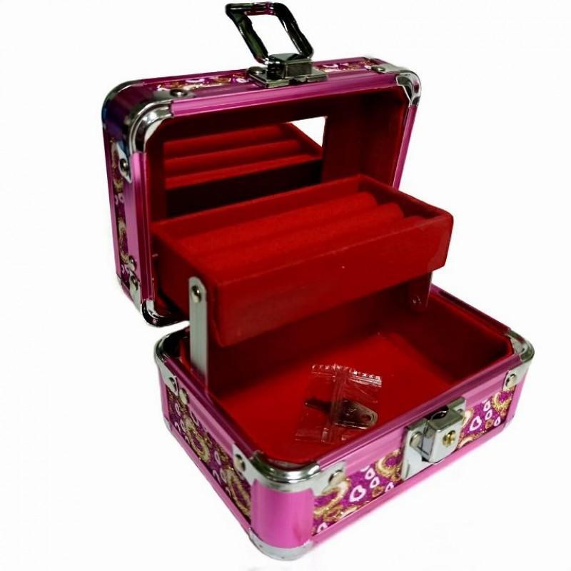 KH-1403  (60) Кейс-шкатулка для украшений, металл, 4 цвета , 13*10*9,5см