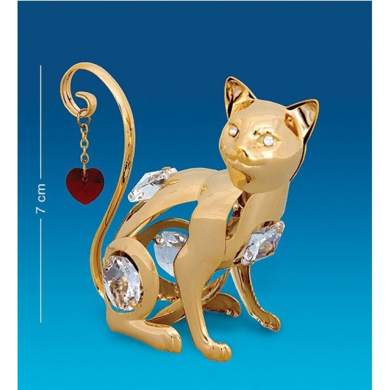Swarovski 22 Фигурка Кошка с сердцем