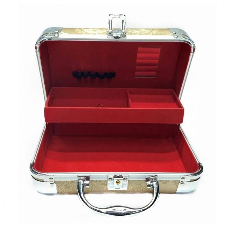 KH- 488 (24) Кейс-шкатулка для украшений, 4 цвета, метал. 25*17*10см