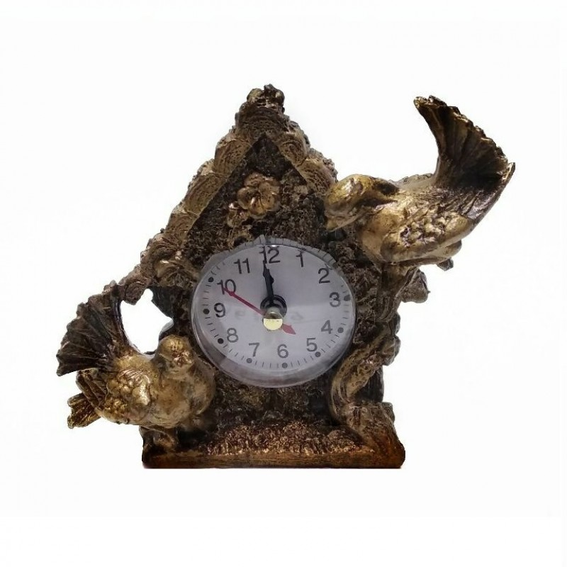MML16129  (1-168) Часы с голубями 12*4*12 см