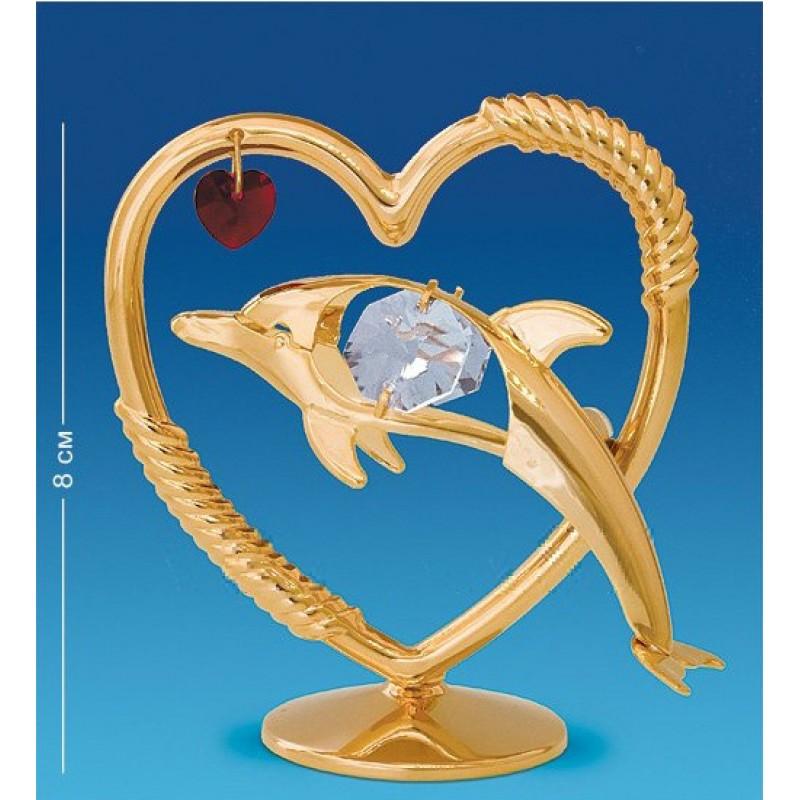 Swarovski 3419/1 Фигурка Дельфин с сердцем 8,5*5,5*8см