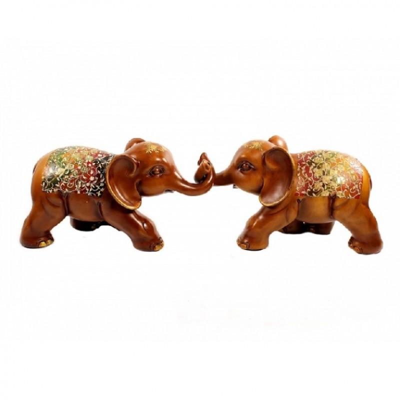 H2768-15A  (1-4) Набор из двух слонов, 35см